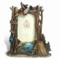 Hand-painted Polyresin Photo Frame, Meets EU En71 and US ASMT Standards Manufactures