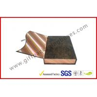 China Magnetic Handmade Luxury Apparel Gift Boxes Covering With Golden Silk on sale