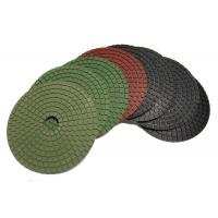 Round Shape Diamond Polishing Pads 4500 RPM Neon Green 5 Inch Hook And Loop Backing Manufactures