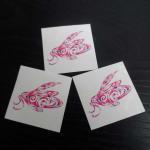 CMYK body fake custom flower temporary tattoo sticker fake tattoo Manufactures