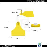 RBC-ETPLM01 Livestock Ear Tags Visual Big Size Lightweight Electronic ID For Animals Manufactures