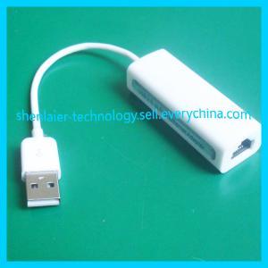 White 100Mbps Ethernet USB Rj45  Converter Manufactures
