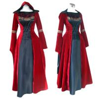 Medieval Dress Wholesale XXS to XXXL Red Gothic Renaissance Medieval Victorian Evening Dress Costume Cosplay Manufactures