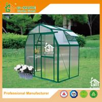 China 4'x6'x6.7'FT Green Color Easy DIY Barn Style Aluminum Greenhouse on sale