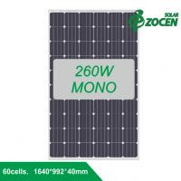 260W efficiency Monocrystalline Solar Panels Connecting Delta Inverter for Home System Manufactures