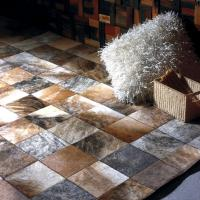 Quality MP Series Luxury Leather Patchwork Carpet Customized 100% Natural Cow Rugs From for sale