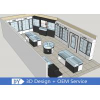 Modern MDF Jewellery Showroom / Custom Jewelry Display Cases Manufactures