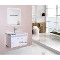 Wall Mounted PVC Bathroom Vanity 2 Doors Dust Free All Sides Polished Manufactures
