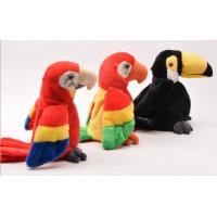 Educational Interactive Talking Plush Toys Musical Parrot For Festival Manufactures