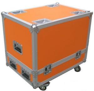 Orange 12U Flight Case Hardware Plastic Cases For DJ Mixer Case Manufactures