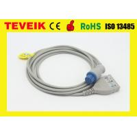 China Round 10 Pin ECG Trunk Cable For Datex Patient Monitor , LL Type 3 Leads ECG Patient Cable on sale
