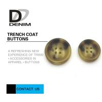 Quality Big Size Bright Color Bulk Trench Plastic Horn Coat Buttons High Wear Resistance for sale