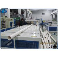 China 75~250mm PVC Pipe Manufacturing Machine With Siemens PLC Electric Control on sale