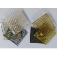 Hallway Patterned Toughened Glass , Decorative Tempered Glass With Metal Mesh Manufactures