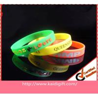 China Printing Sports Silicone Bracelets Non-toxic on sale