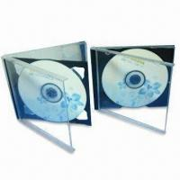 Standard Jewel Case in Black Tray, Made of PS, Suitable for Single or Double CDs Manufactures