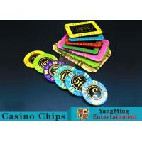 Anti - Counterfeiting RFID Casino Chips / Crystal Poker Chips Round Shape Manufactures