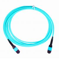 China 3.0mm Fiber Optic Cable Accessories , 5M Length MPO MTP Optical Patch Cord on sale