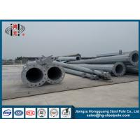 Steel Tapered Q235 Polygonal Power Transmission Poles With Hot Dip Galvanized 15m Manufactures