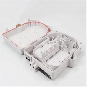 Plastic Fiber Optic Junction Box , 24 / 16 Core Fibre Optic Distribution Box Manufactures