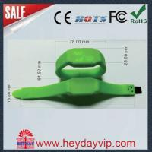 China new personalized signauture wristband watch usb memory stick on sale