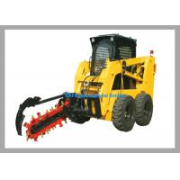 900 - 1200mm Farm Machine Loader Attachment Auger Torque Trencher Small Size Manufactures