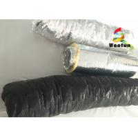 Quality Round Acoustic Insulated Flexible Ducting , Silver Heat Resistant Flexible Hose for sale