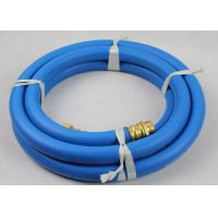 """50ft Length ID 3/4"""" Reinforced Water Hose with 3/4"""" Nickle plated Brass Fittings Manufactures"""