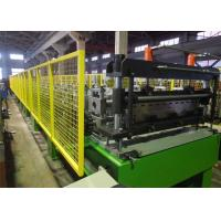 Decking Panel Floor Deck Roll Forming Machine / Building Sheet Metal Roll Former Manufactures