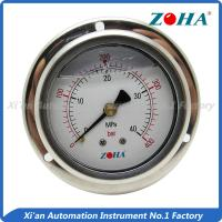 China Stainless Oil Filled Vacuum Gauge , Panel Mount Air Pressure Gauge ±1.5% on sale