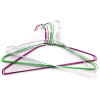 China Wholesale Strong Silver Color Galvanized Metal Steele Wire Shirt Hangers 16 Inch on sale