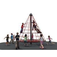Quality High Strength Galvanized Post Kids Climbing Net Cone - Shap Challenge Ropes for sale