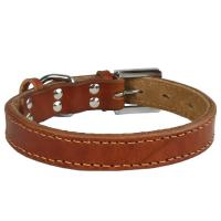 Genuine leather Dog collar 5 color Round GCDC-025 Manufactures