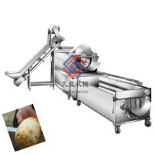 Big Capacity Vegetable Fruit Production Line / Potato Washing And Peeling Machine Manufactures