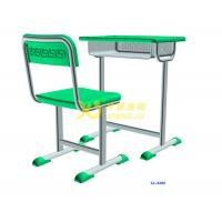 Single Dual Student Table And Chair Set With Groove HDPE Material Manufactures