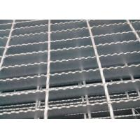 Welded Serrated Steel Bar Grating , Various Size Heavy Duty Bar Grating Manufactures