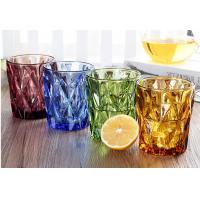 Lemon Tea Solid Glass Products 300ml Colorful Drinking Cup Machine Made OEM Manufactures