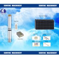 DC Solar Deep Well Submersible Pump Efficient With Stainless Steel Casing Manufactures