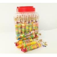 Colorful and Sweet Multi Fruit Flavor Roll Healthy Hard Compress Candy in Jars Manufactures