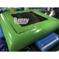 China PVC Tarpaulin Inflatable Water Toys Jumping Water Trampoline Bed Airtight Bouncer on sale