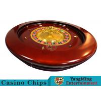 Deluxe Solid Wooden Roulette Wheel Game Difficult To Deformation For Casino Manufactures