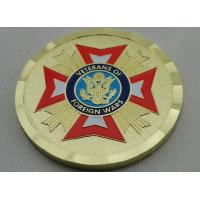 Zinc Alloy Gold Plating Veterans of Foreign Wars Personalized Coins with Soft Enamel, for Commemorative Manufactures