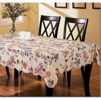 China PVC Flower Table Cloth with Non-woven Back on sale