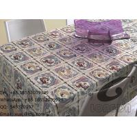 China Household Polyester Table Cloths And Decorative Window Curtains , Beautiful Roses on sale