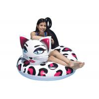 48 Inch Inflatable Swim Ring With Customized Logo / Kitty Pool Tube Floats Manufactures