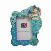 4 x 5-inch Photo Frame, Made of Polyresin, Customized Designs, Sizes, and Shapes Available Manufactures