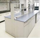 Completed Chemical Laboratory Furniture Lab Casework For New Phenolic Tops Manufactures