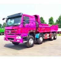 Hydraulic 50 - 60 Ton Dump Truck , HOWO 8x4 Strengthened Quad Axle Dump Truck Manufactures