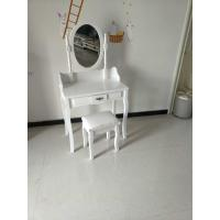 China Wholesale white small wooden dressing table with drawer on sale