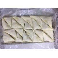 China Triangle - Shaped Frozen Spring Rolls , Frozen Vegetable Samosa Chinese Snack on sale